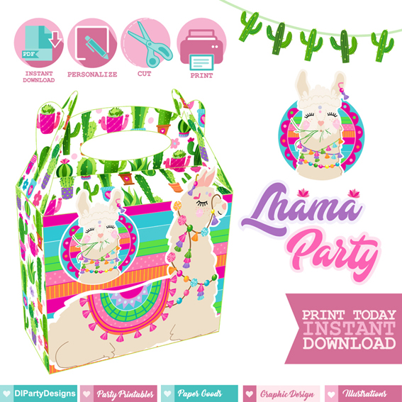 Cajita Feliz Llama Party
