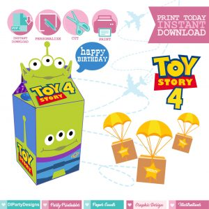 Toy Story 4 Caja Milkbox Aliens